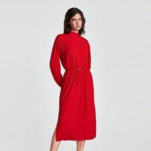 NWT Zara w&b red maxi dress